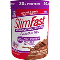 SlimFast Advanced Nutrition Creamy Chocolate Smoothie Mix – Weight Loss Meal Replacement – 20g of protein – 11.4 oz…