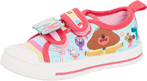 GIRLS OFFICIAL HEY DUGGEE CASUAL CANVAS PUMPS SHOES TRAINERS UK SIZE 5-10