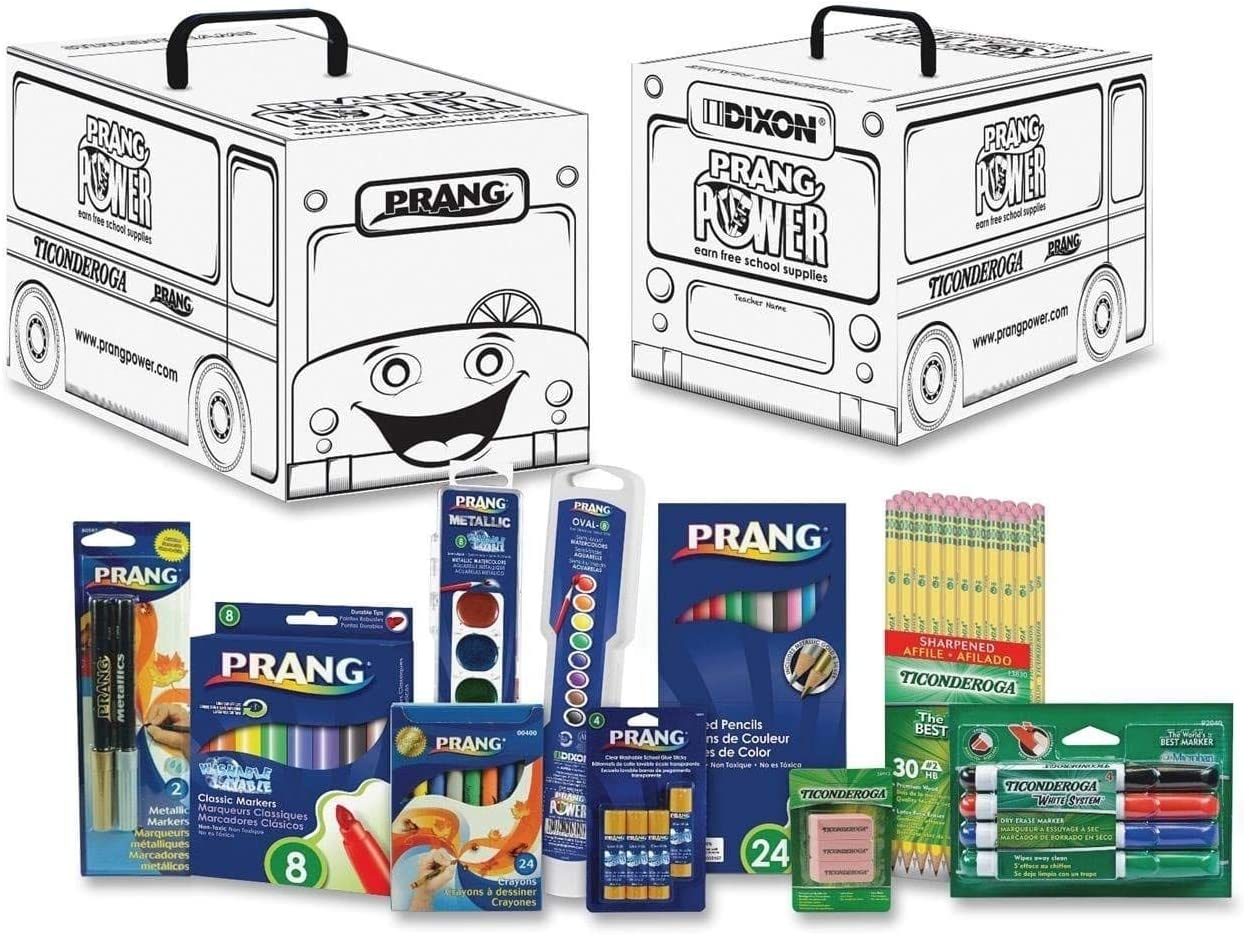 Prang Power Classroom Art Supply Activity Kit, White 101 per