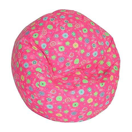 American Furniture Alliance Print Collection Jr Child Bean Bag Pink Flower