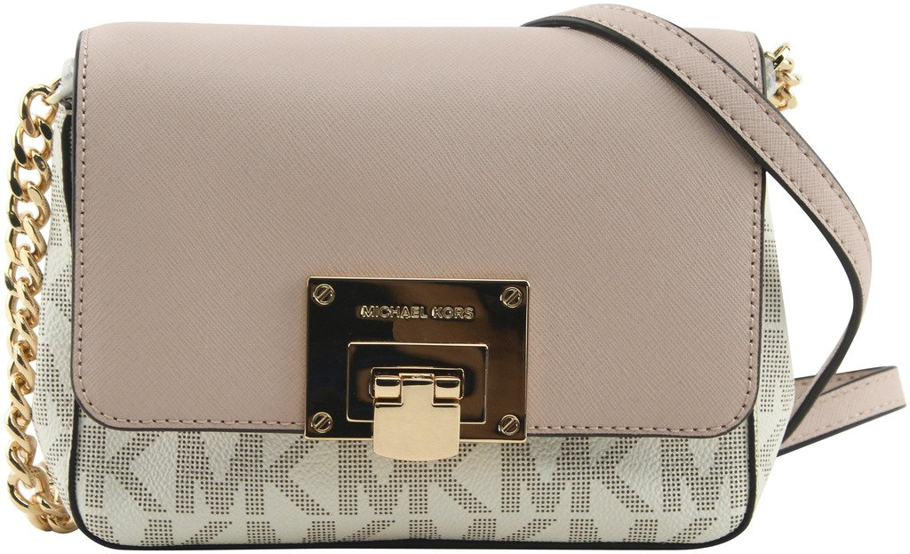 MICHAEL Michael Kors Women's Tina Convertible Crossbody Clutch Bag, Style 35F7GT4C1B, Vanilla Ballet by Michael Kors