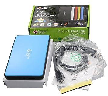 (Garantía de por vida de MasterStor) Carrito portátil carcasa USB 3.0 para disco duro externo PS3 Drive Laptop escritorio súper rápida de 2.5 pulgadas ...