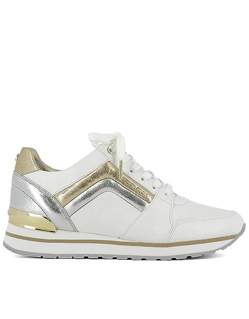 Michael By Michael Kors Mujer 43R7cnfs1l898 Blanco Cuero Zapatillas: Amazon.es: Zapatos y complementos