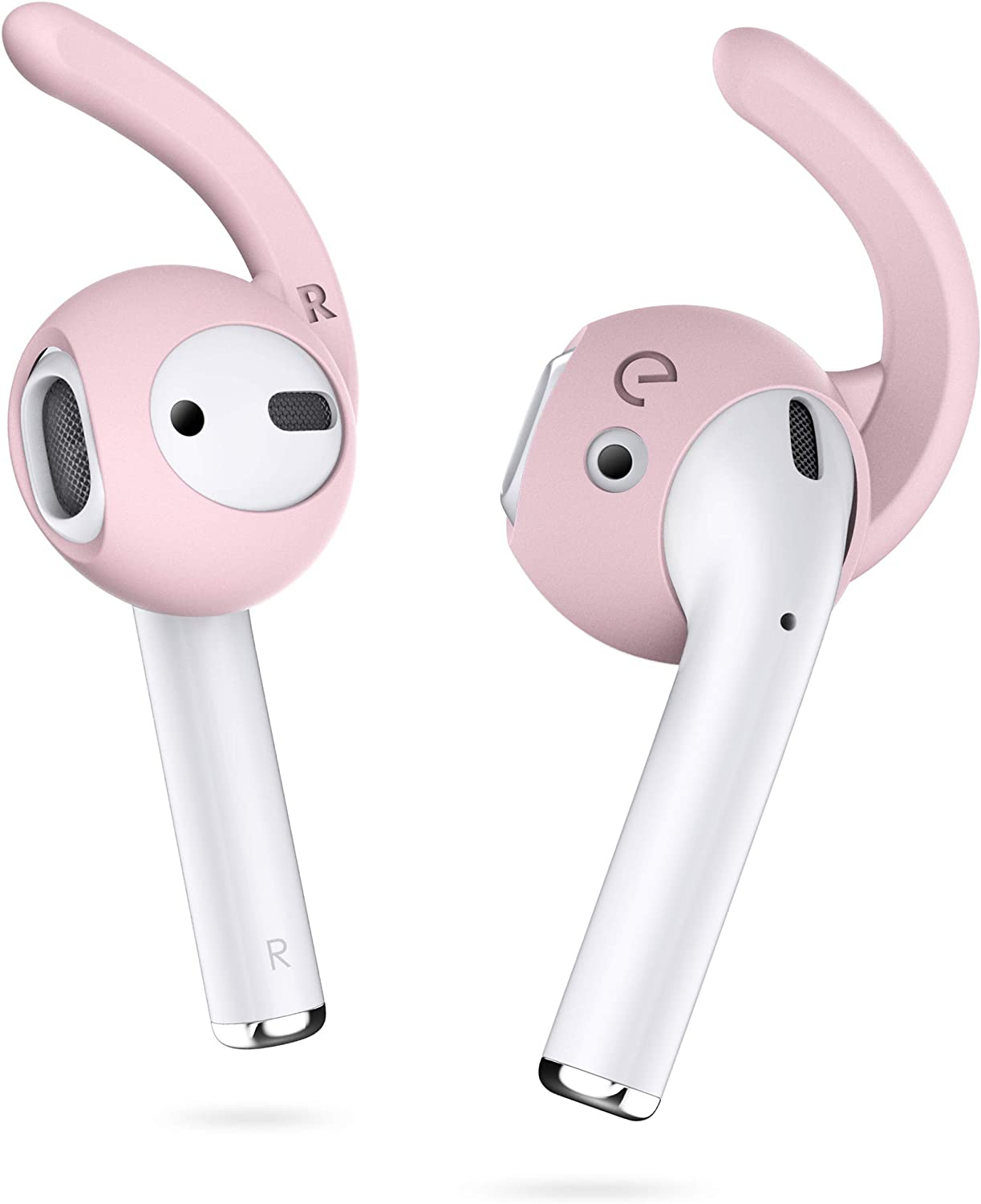 EarBuddyz 2.0 Ear Hooks and Covers Accessories Compatible with Apple AirPods 1 & 2 or EarPods Headphones/Earphones/Earbuds (3 Pairs) (Pretty in Pink)