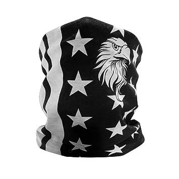 GAMPRO Patrón de águila de la bandera americana Máscara de cara exterior, Máscara de bicicleta