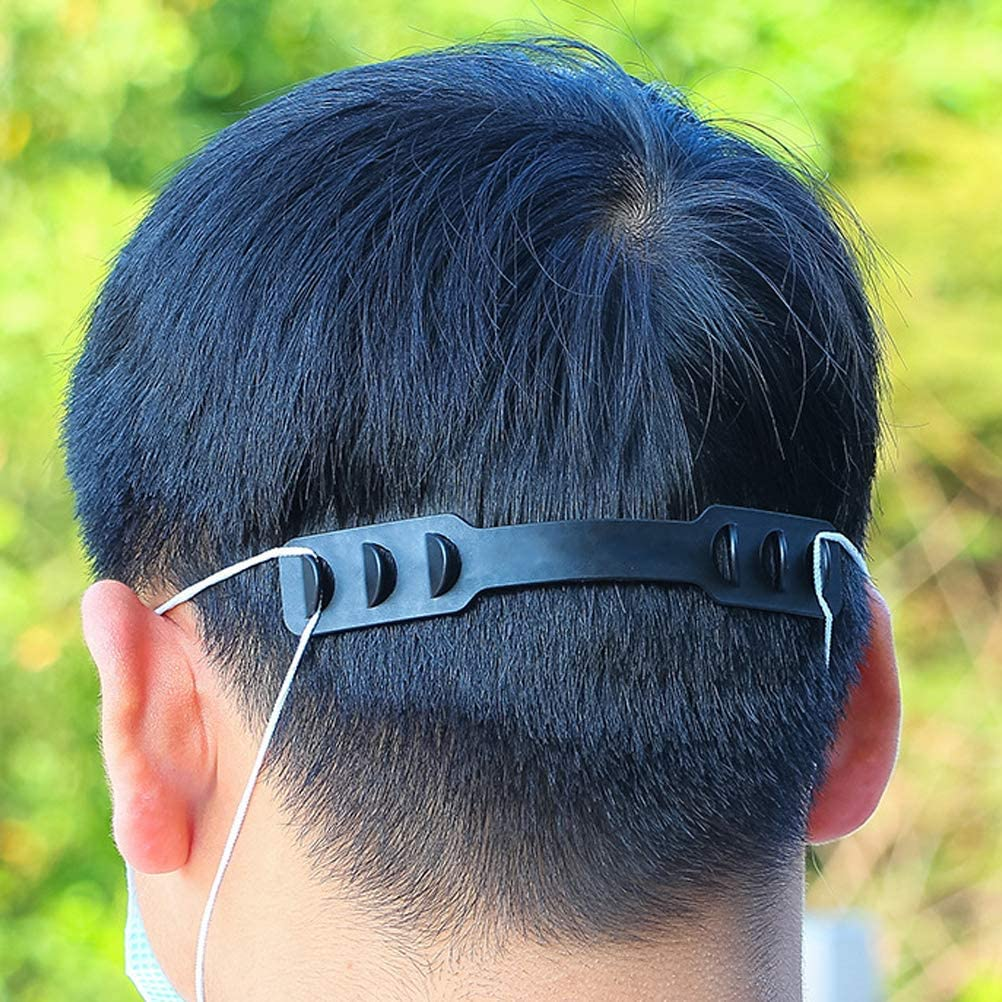 10 St/ück Masken verl/ängerungs Haken Maske Ohr schnurverl/äng erungsschnalle Verstellbare Schnalle Verringerung Ohrenerm/üdung f/ür Maskenseil BovoYa Maskenhaken