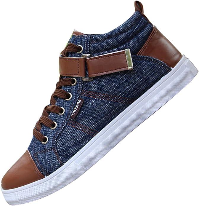 Men Casual canvas denim boat shoes flat