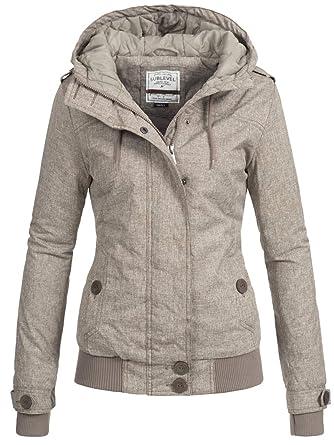 Sublevel Damen Winterjacke Jacke Kapuzenjacke