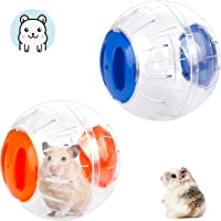 2 PCS Hamster Ball Hamster Gerbil Exercise Balls Running Wheel Plastic Cute Jogging Balls Toys Relieve Boredom…