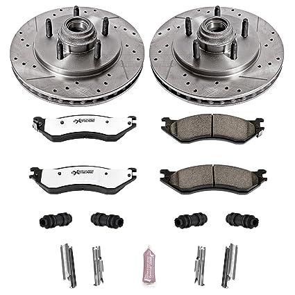 Amanti Front  Drill Slot Brake Rotors+Ceramic Brake Pads Kia XG350 Fit Hyundai