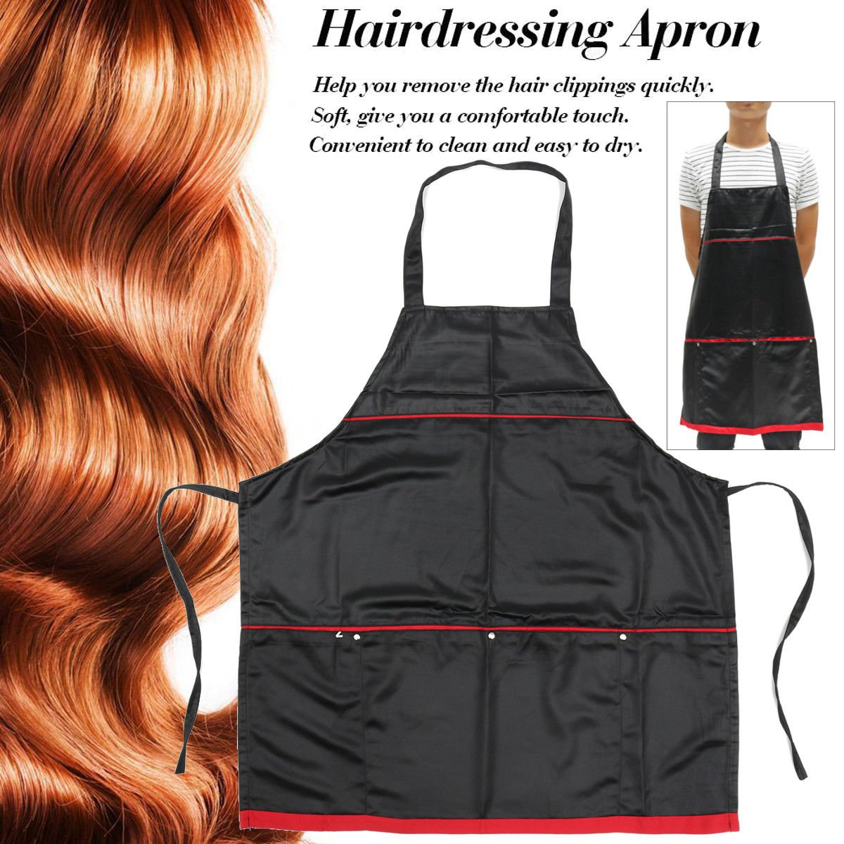 4 pockets Professional Salon Apron for Barber HAIRDRESSING Durable Thick Durable