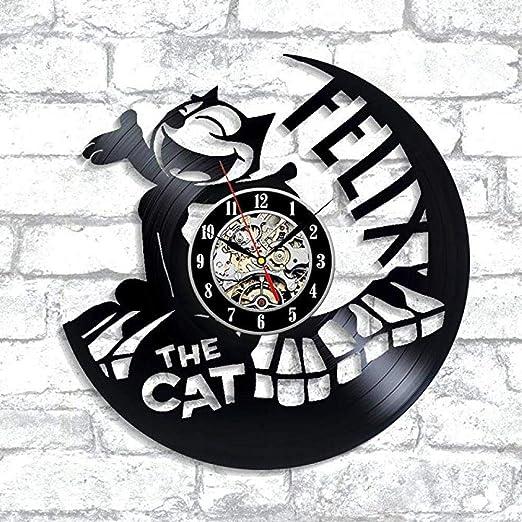 Félix Le Chat Vinyle Horloge Murale Chat Cadeau De Dessin
