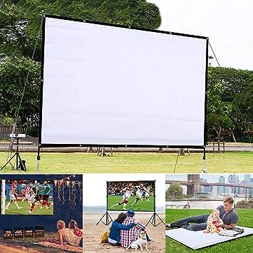 Pantalla de Proyector Plegable Portátil Pantalla de Cine Hogar Pantalla de Proyección (120 x 90cm)