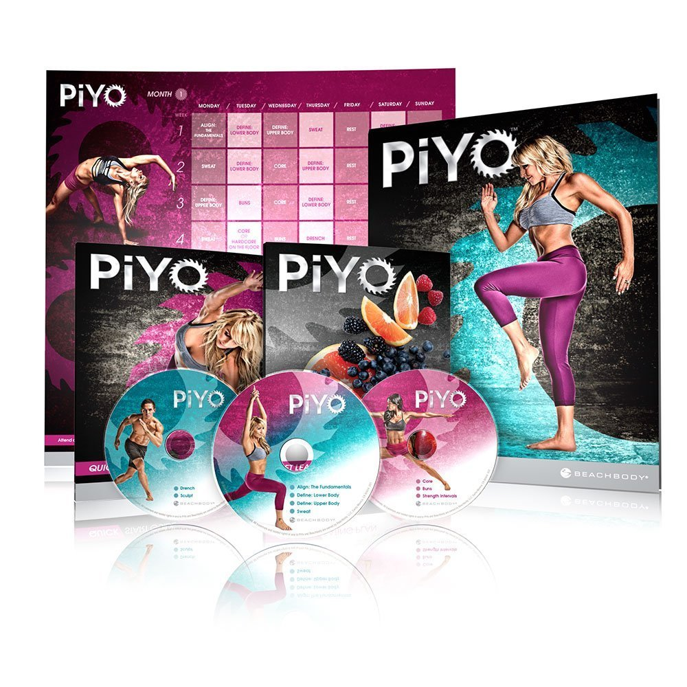 Chalene Johnson - PiYo 5 DVDs Workout with Exercise Videos + Fitness Tools and Nutrition Guide