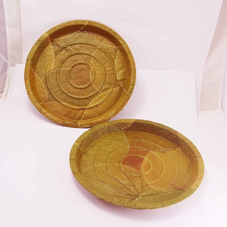 Plato original de hojas de siali para buffet de 31,75 cm x 2,54 cm ...
