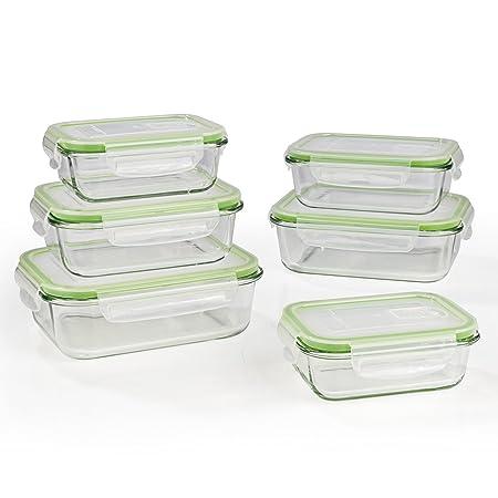 Gourmet Maxx Cristal de - Recipientes herméticos (| Adecuado para ...