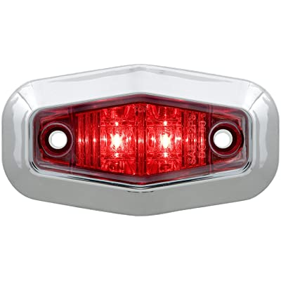 Optronics MCL13RTRS Led Marker/Clearance Light, Red: Automotive