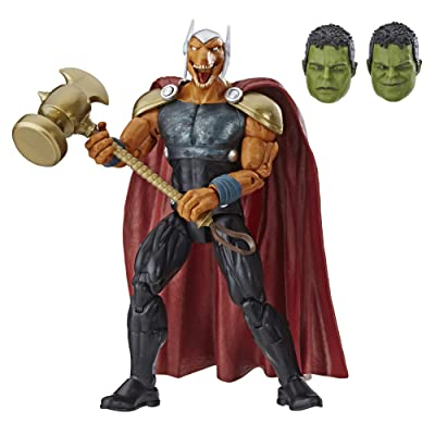 "Marvel Legends Series Beta Ray Bill 6"" Collectible Action Figure Toy for Ages 6 & Up with Accessories & Build-A-Figurepiece: Toys & Games [5Bkhe0303824]"