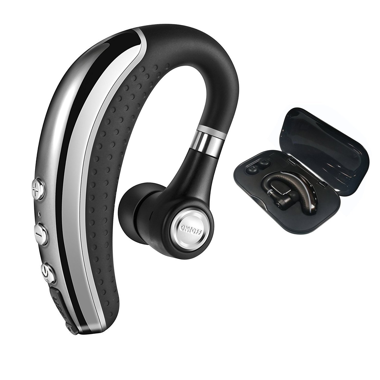 [Upgrade Version]Bluetooth Headset,Ansion Wireless Bluetooth 4.1 Earpiece Earbuds Earphones Headphones with Noise Reduction,Mute Switch,Hands Free with Mic for Office/Business/Workout/Driver/Trucker by Ansion