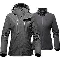 OutdoorMaster Women's 3-in-1 Ski Jacket - Winter Jacket Set with Fleece Liner Jacket & Hooded Waterproof Shell - for…