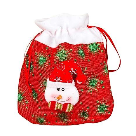 Topdo Bolsa de Regalo Navidad con Cajas de Cuerda Atado Portátil Muñeco de Nieve Gift Bag