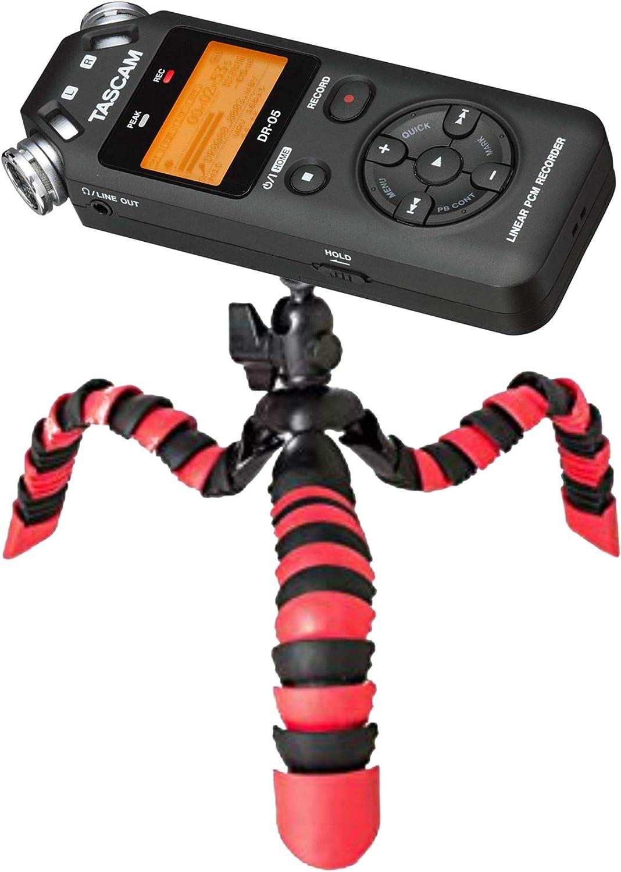 Stativo flessibile per dittafono e registratore audio 1//4 compatibile con Roland Philips Tascam Sony Olympus Zoom H4n Pro H5 H6 mobile Recorder H2n TronicXL Profi TRIPOD 1