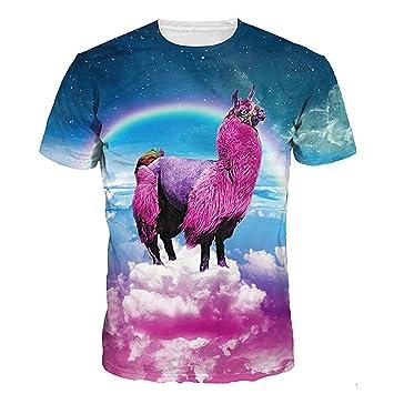 21901e704068b Tシャツ メンズ レディース 3Dプリント YOKINO 夏半袖Tシャツ 男女兼用 デザイン ファション カジュアル