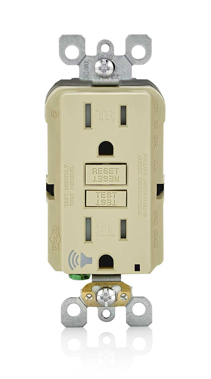 Leviton A7899 I Smartlockpro Slim Gfci With Audible Trip Alert 20 Removing The Old Gfi Outlet Amp 120 Volt Ivory