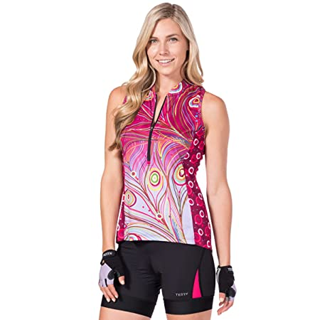 Amazon.com   Terry Women s Sun Goddess Bicycling Jersey with UPF 50+ Sun  Protection   Sports   Outdoors c2a9e333e