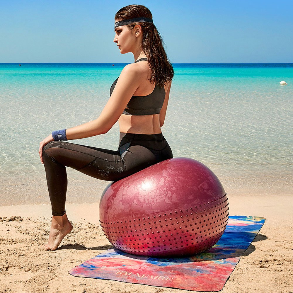 Las Mujeres Embarazadas Deportes Equilibrio Bola de Yoga ...