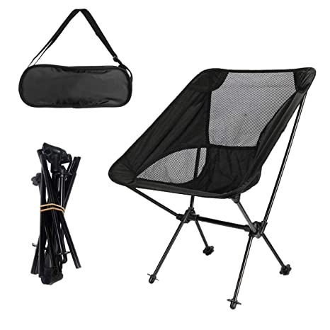 e4f9eb1294 DQS Ultralight Camping Chair - Lightweight Portable Folding Chair with  Carry Bag, Foldable Beach Chairs for Kids Women Men