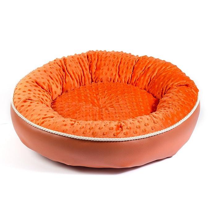 Boutique Zoo - Elegante cama para perros/naranja/cama para perros para pequeñas/medianas/Perros Grandes | sofá, perros - Cojín para perros | XS, S, M, L, ...