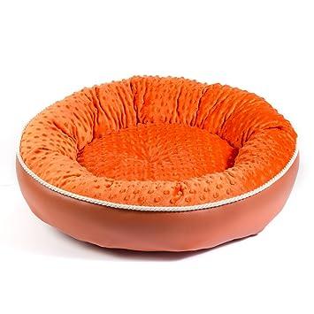 Boutique Zoo – Elegante cama para perros/naranja/cama para perros para pequeñas/