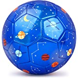 PP PICADOR Kids Soccer Ball, Sparkling Soccer Ball Cartoon Ball Toy Gift with Pump for Kids, Toddlers, Children, Boys…