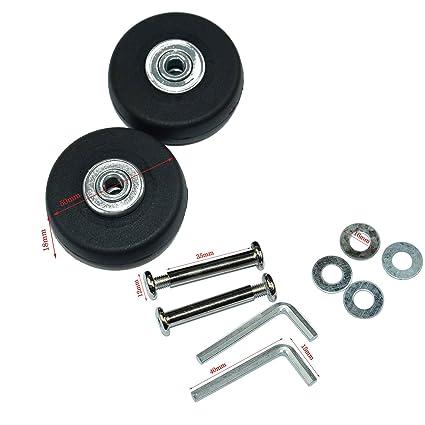 Ruedas de repuesto Lovinstar para maleta, diámetro exterior de 50 mm (50 x 18
