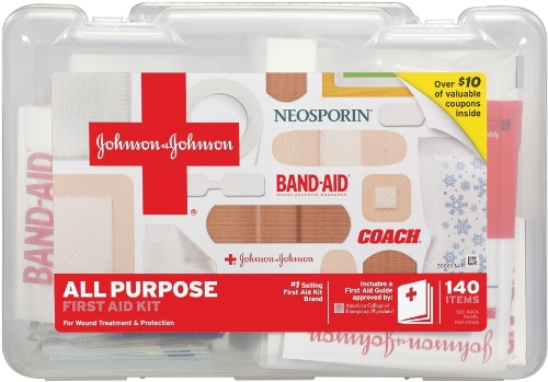 Johnson & Johnson All Purpose First Aid Kit (140 articles)
