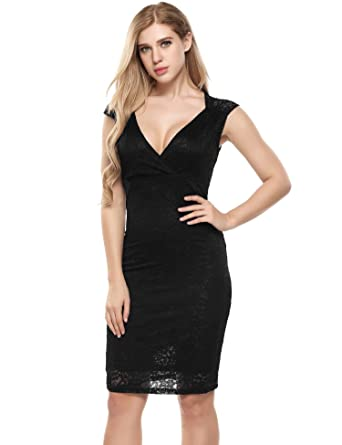 558ace73945 dongba Elegant Sleeveless Knee Length Sheath Dress with Lace Design for Women  Dresses at Amazon Women s Clothing store