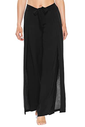 f11854f31b4e3 Becca by Rebecca Virtue Women s Modern Muse Wrap Tie-Front Pants Swim Cover  Up at Amazon Women s Clothing store