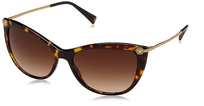 Versace 0VE4345B 108 13 57, Montures de Lunettes Femme, Marron (Havana Brown  Gradient)  Amazon.fr  Vêtements et accessoires 286a7269524