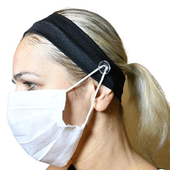 Black Face Mask Hook Earrings Metal Doctor Trendy Essential Worker Clip On or Post upon request Nurse