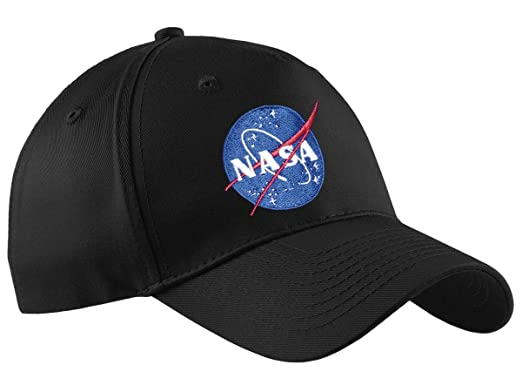 f2f95a2463a ComputerGear NASA Baseball Cap Men Women Space Embroidered Officially  Licensed Cotton Black