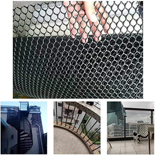 Balcón Escalera De Plástico Y Negro Red De Seguridad, Bebé Niños Pequeños Niños Barandilla De Escalera Pet Net Protector For Niños/Animal Seguridad/Juguete (Color : Black, Size : 1x7m): Amazon.es: Productos para mascotas