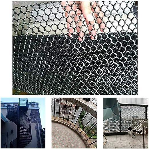 Balcón Escalera De Plástico Y Negro Red De Seguridad, Bebé Niños Pequeños Niños Barandilla De Escalera Pet Net Protector For Niños/Animal Seguridad/Juguete (Color : Black, Size : 1x7m): Amazon.es: Productos para mascotas