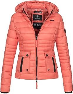 Navahoo Damen Jacke Steppjacke Übergangsjacke Gesteppt Kapuze 11 Farben B602 961bbb8e5f