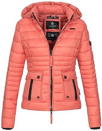 Navahoo Damen Jacke Steppjacke Übergangsjacke Gesteppt Kapuze 11 Farben  B602  Amazon.de  Bekleidung b6cdab7449