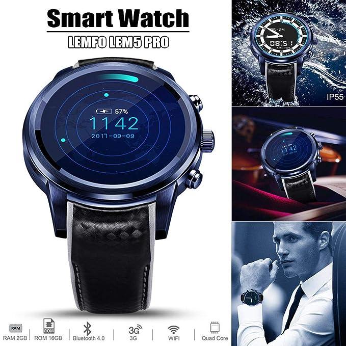 LEMFO Reloj inteligente LEM5 Pro Android 5.1 Bluetooth IP55 Vida ...