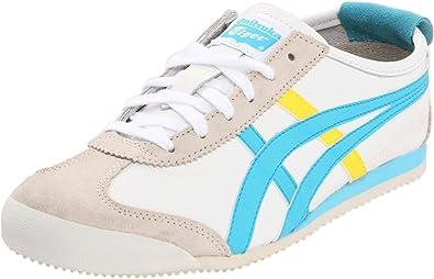 pretty nice 93c26 7f941 Onitsuka Tiger Women s Mexico 66 Fashion Sneaker,White Sky Blue Yellow,8