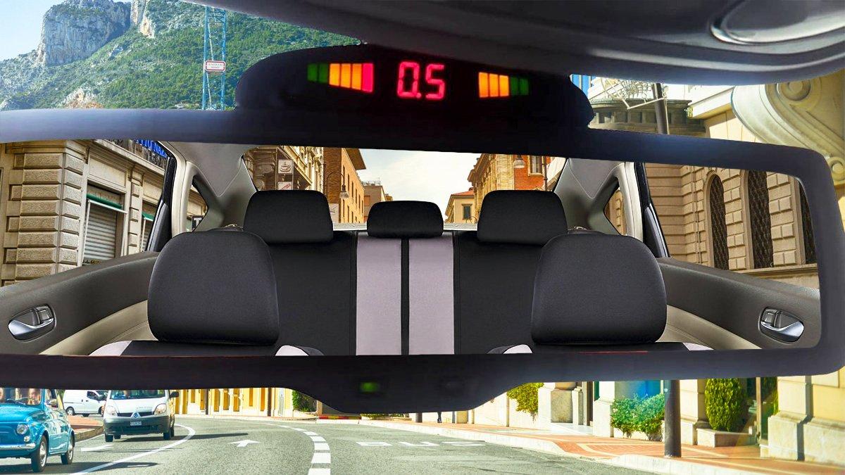 Zone Tech Car Reverse Backup Radar System Premium Parking Sensor Circuit Using Infrared Led Quality 4 Sensors With Display Electronics