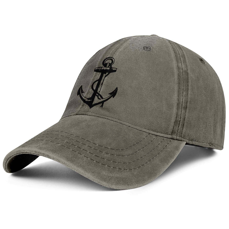 Trucker Cap Cyan Ship Boat Anchor Captain Adjustable Lightweight Summer Hat for Women//Men