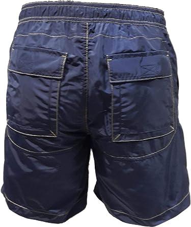 Bermuda Aeronautica Militare Costume Boxer Mare BW179 Blu Navy Uomo Shorts Polo Pantalone Slip